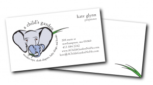 A Child's Garden business cards