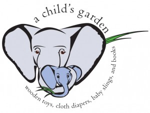 A Child's Garden Logo and sticker